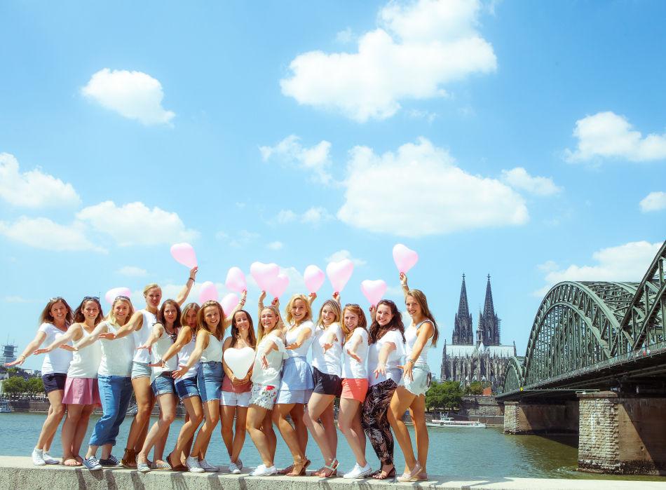 Junggesellinnenabschied Fotoshooting Fotografin Köln Outdoor