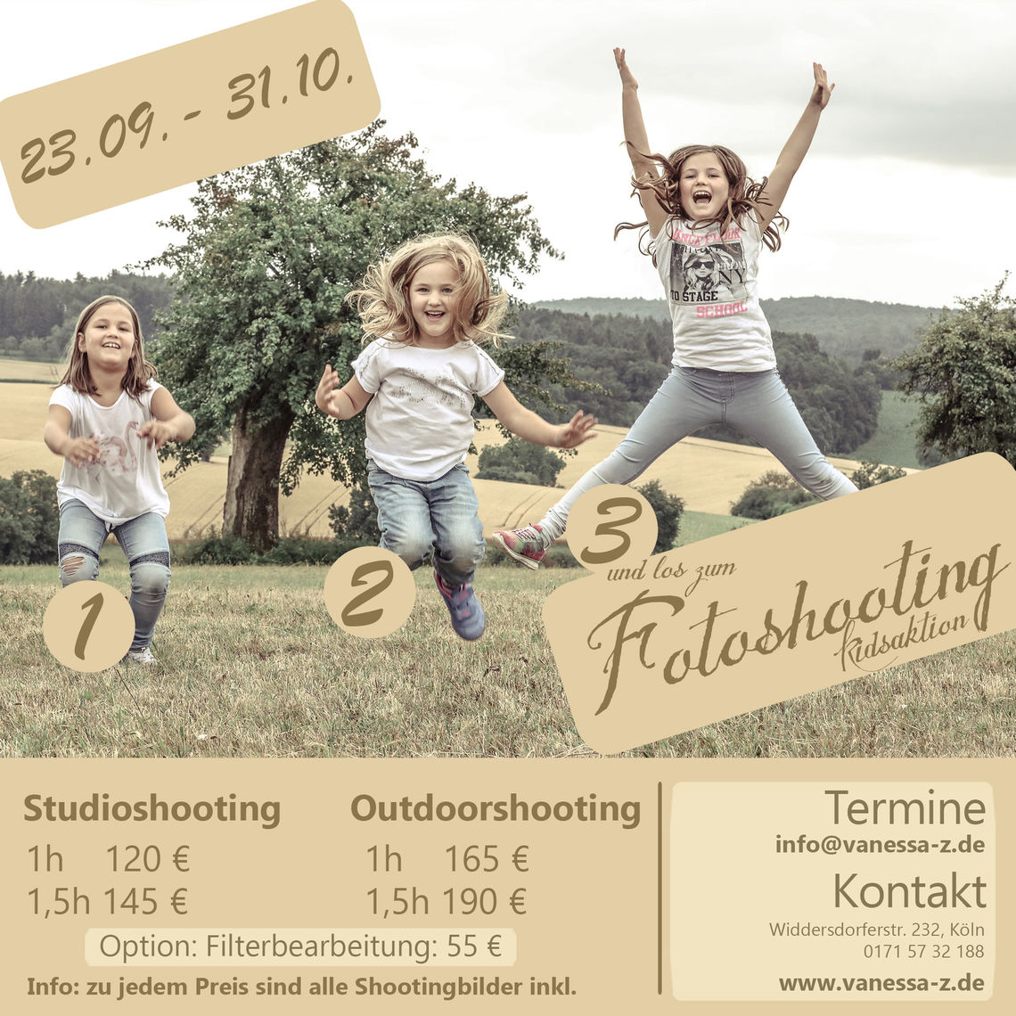 Fotoshooting Kinder & Familie: Kinderaktion